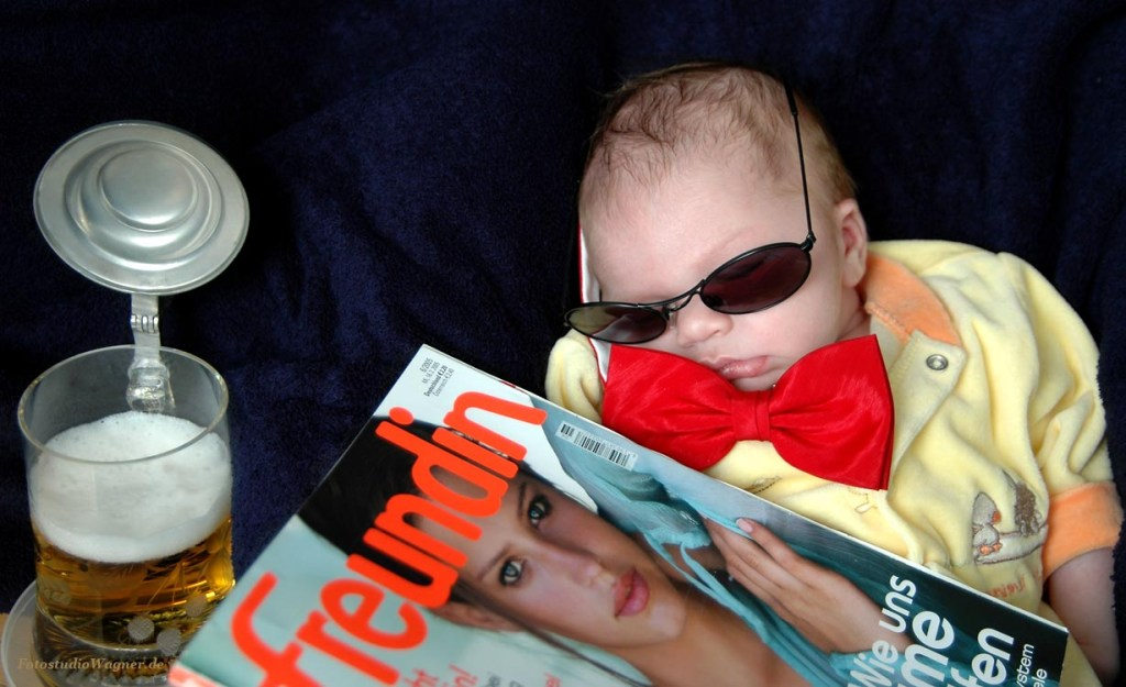 Coole Babyfotos im Fotostudio Wagner München