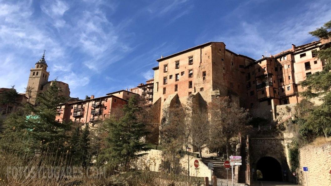 Vista de Albarracín desde el aparcamiento