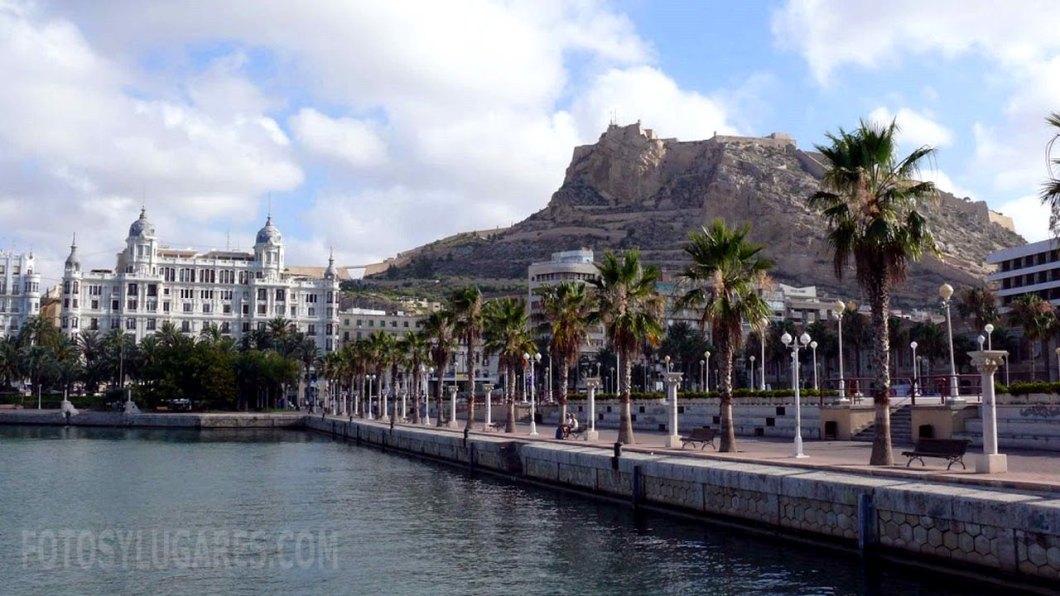 Alicante puerto, castillo y casa Carbonell
