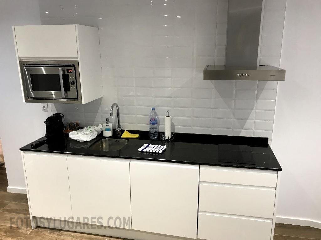 Cocina del apartamento en Teruel