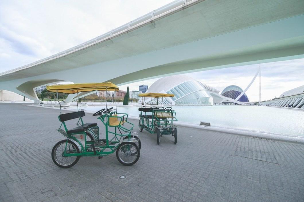 Foto de bicicletas en Valencia