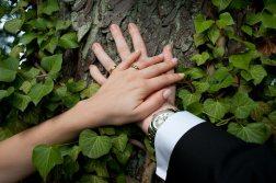 Ein Zeichen für die Heirat sind die Eheringe