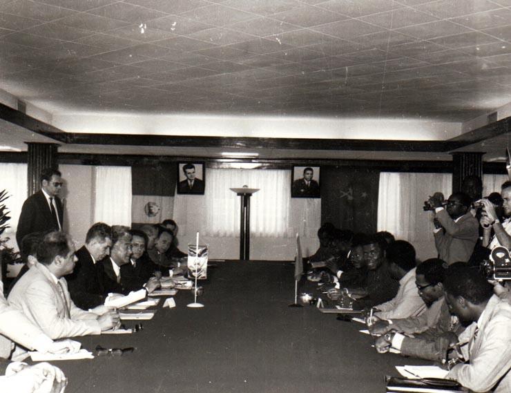 Vizita delegaţiei R.S.R. condusă de preşedintele Nicolae Ceauşescu în Republica Populară Congo. Convorbiri oficiale. (18-21 martie 1972). Fototeca iiccr