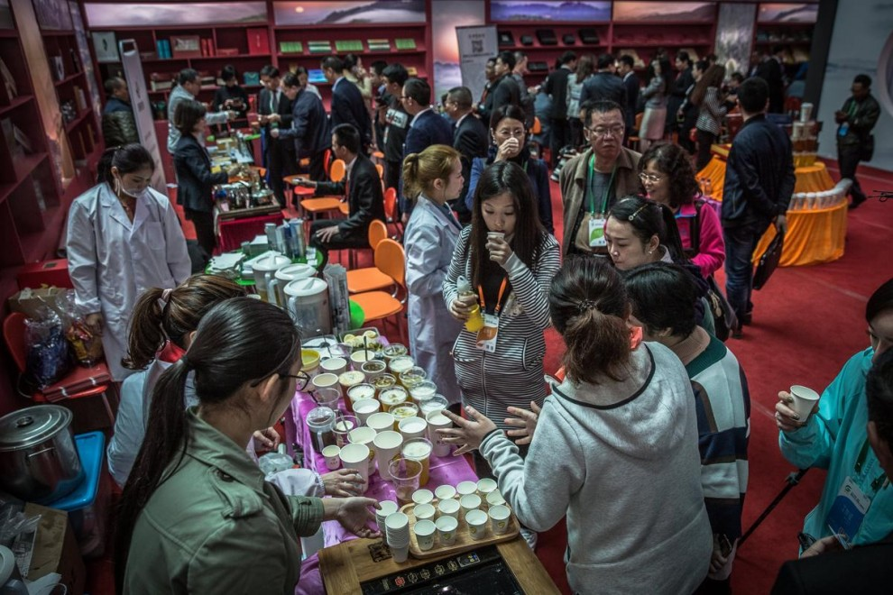 Производство чая в Китае