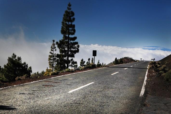 Morze mgieł , droga do Las Gigantes