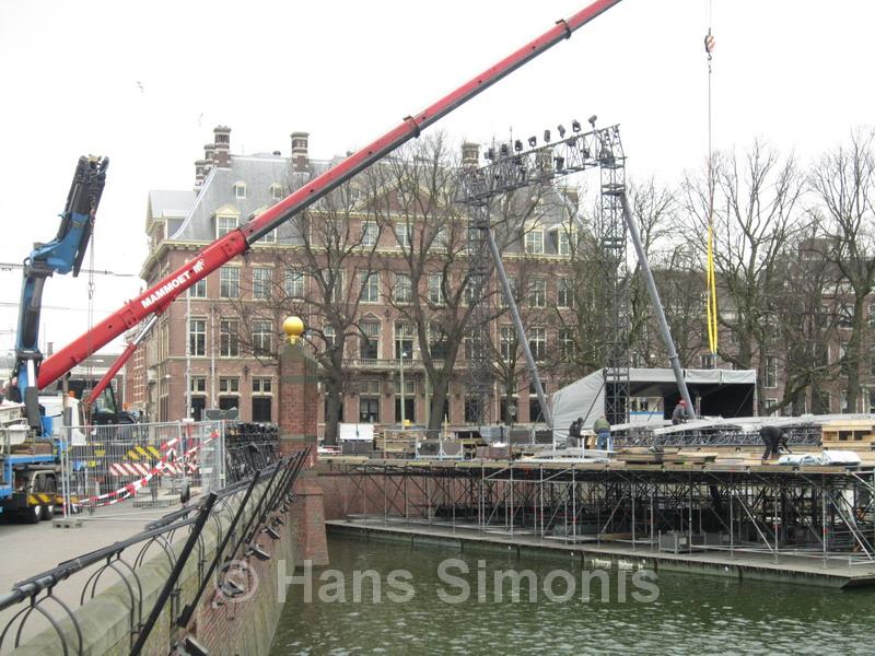 Opbouw werkzaamheden The Passion Den Haag