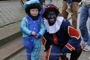 Piet met Kindje bij Sinterklaas in Den Haag