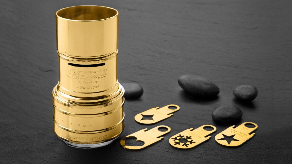 Now you can get a Lomography Dageurreotype lens in GOLD