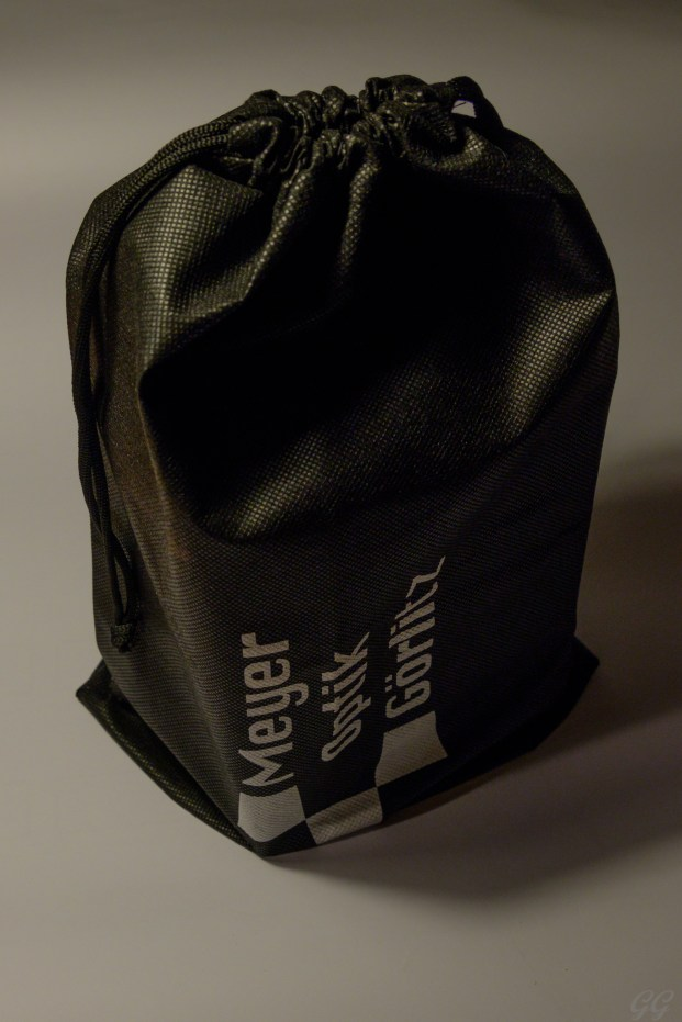 A bag for storing the box (and lens)