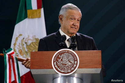Mexico's President Andres Manuel Lopez Obrador holds his daily news conference in Oaxaca, Mexico October 18, 2019. REUTERS…