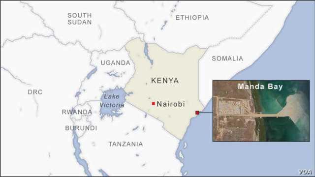 Map of Manda Bay Kenya