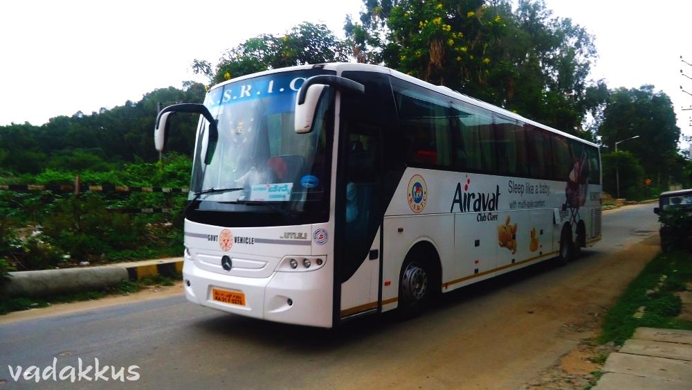 KSRTC's Mercedes Multi Axle Bus doing Bangalore - Chennai