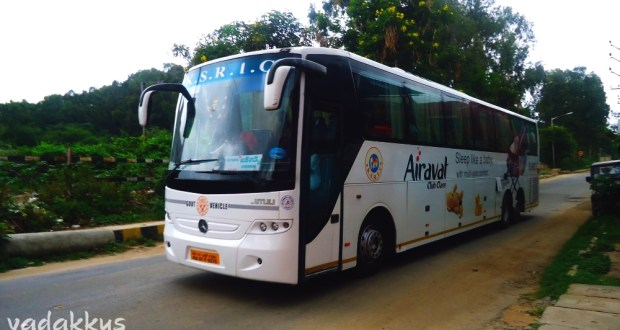 KSRTC's Mercedes Multi Axle Bus doing Bangalore - Chennai