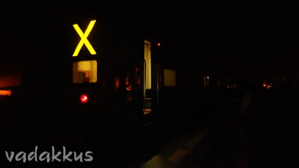 X Marks the Tail as the Train Vanishes in the Night…