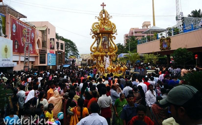 Car Procession at St.Mary's Basilica Shivajinagar