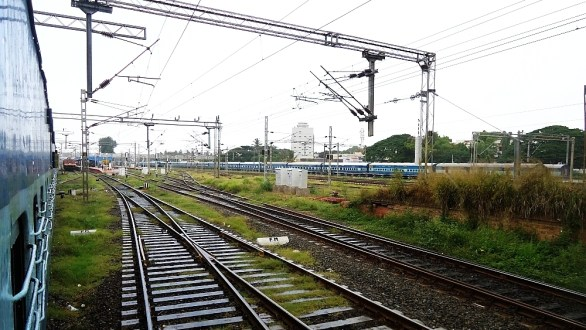Approaching Coimbatore Junction Railway Station…