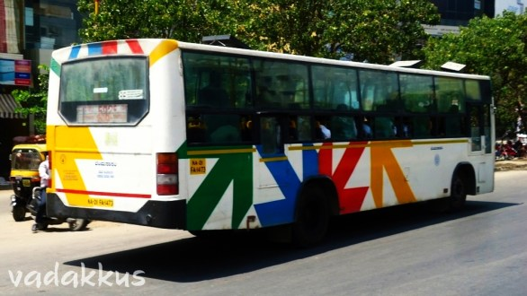 """A Colorful BMTC """"Arrow"""" Livery Bus"""