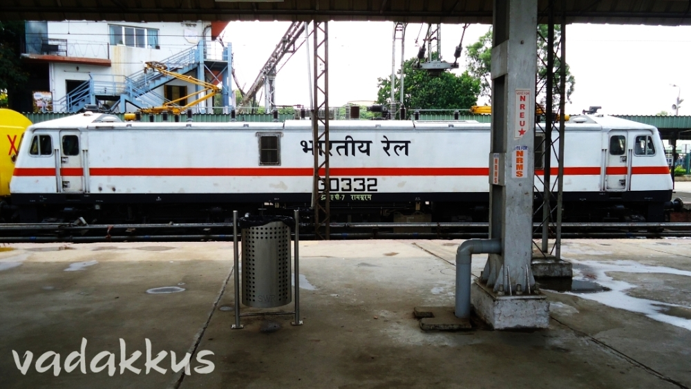 RPM WAP7 30332 Electric Loco at Bangalore City Railway Station