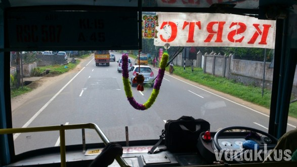 Front-Row Seat View from Inside a KSRTC Superfast