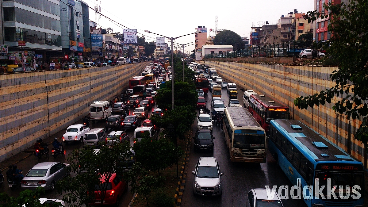 Traffic Jam at Marathahalli Bridge Bangalore