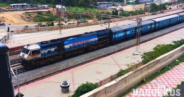 Prasanthi Express train full view photo