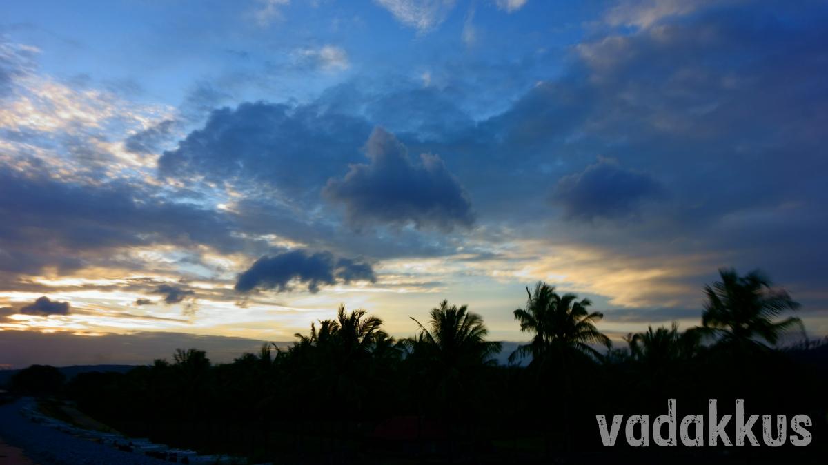 Gold and Blue Sunset at Mandya