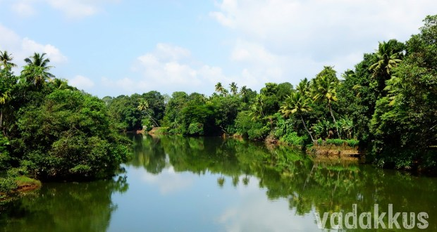 Meenachil River in Kerala flanked by Greenery