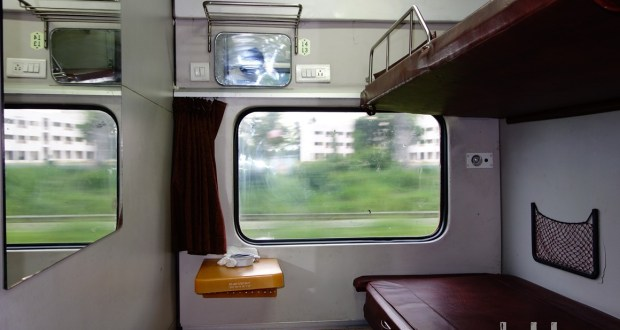 Inside a First Class AC Coupe (2 seater) of Indian Railways
