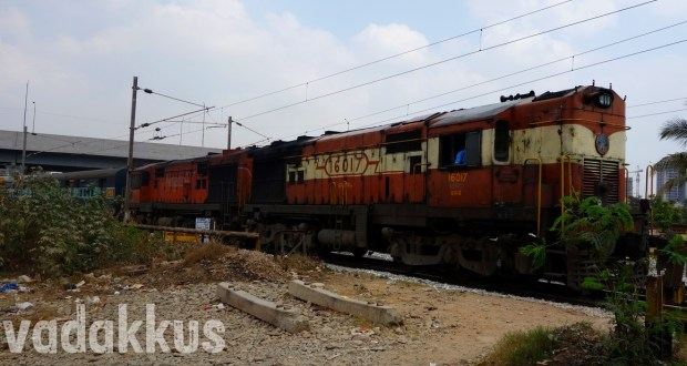 Picture of the Karnataka Express headed by the MLY ALCO Twins