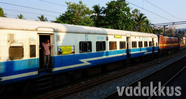 the 12075 Jan Shatabdi Express passing Ernakulam Town
