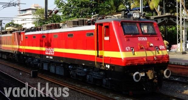 Freshly painted electric locomotive WAP4 22269
