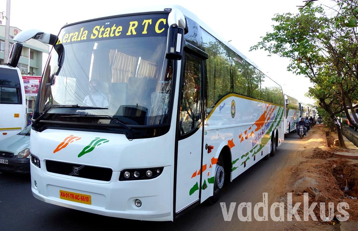 New Kerala KSRTC Volvo B9R Multi Axle Buses In A Row