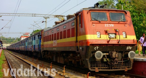 Picture of the Island Express train at Kottayam