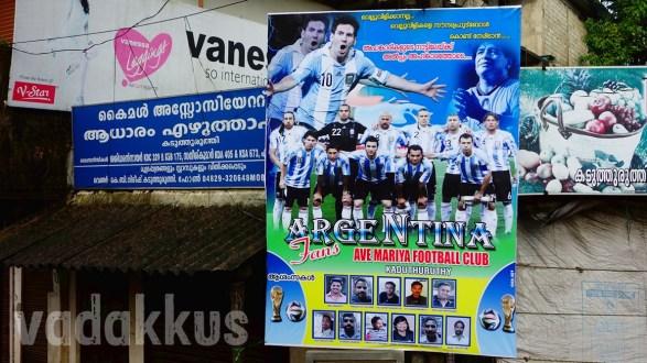 Vamos Argentina! From Kaduthuruthy, Kerala