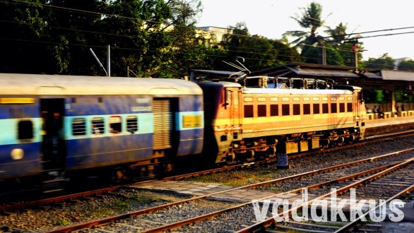 Speeding ED WAP4 22221 Glows in the Evening Sun