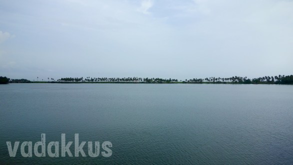 The Faraway Strip of Land Separates a Backwater from the Sea