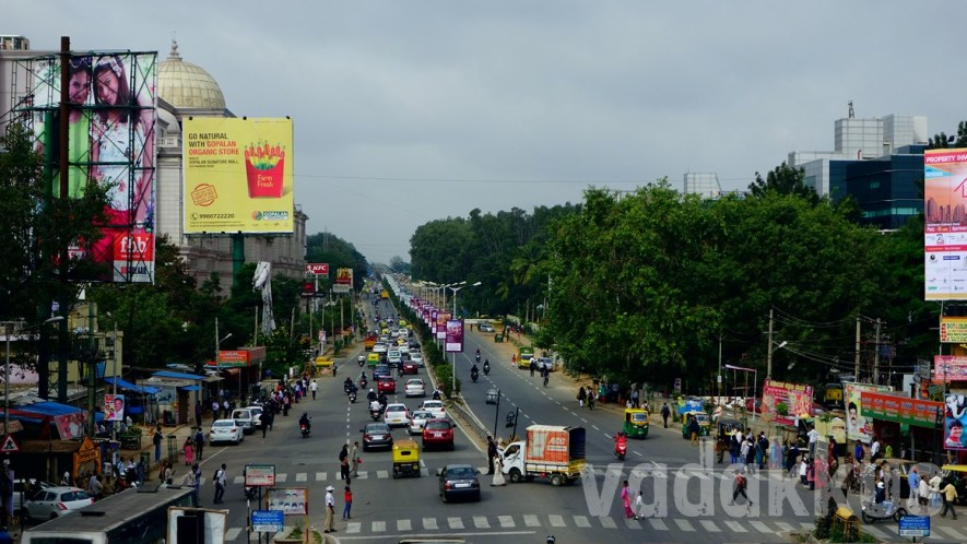 """Aerial"" View of Old Madras Road – Quintessential Bangalore!"