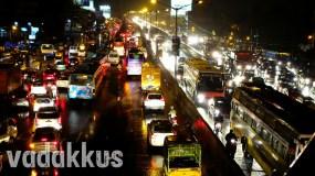 Bangalore's Notorious Tin Factory Jn on a Rainy Night