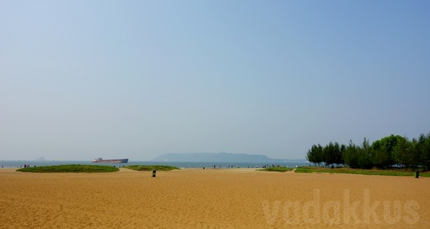 Photo of Miramar Beach in Goa on a Sunny morning