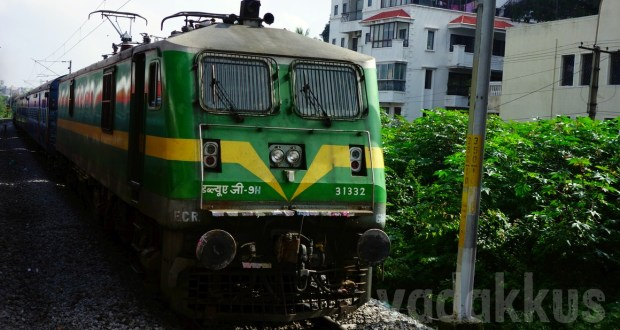 Image of WAG9H green livery india's most powerful electric locomotive