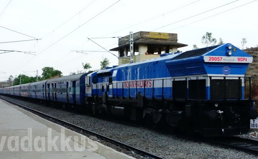 Mint Fresh EMD WDP4 Long Hood Forward at Makalidurga!