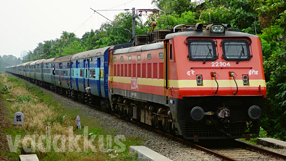 Photo of Kerala Express train in its Full Length