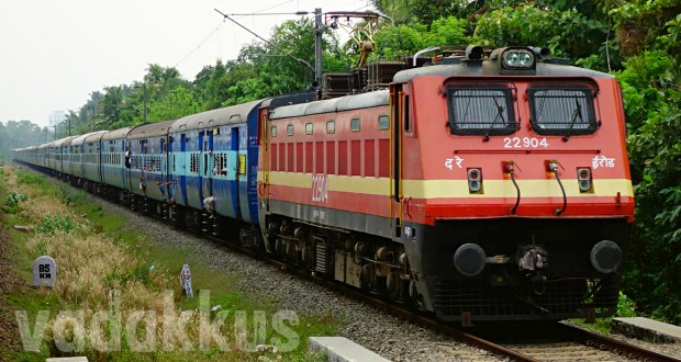 Photo of Kerala Express train in its Full Length