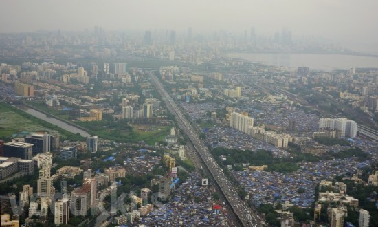 Aerial (Pollution) Photo of Mumbai over Vakola to Bandra and Beyond