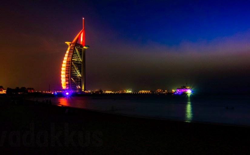 Dubai's Magnificent Burj Al Arab Hotel at Night