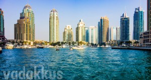 The Dubai Marina at the outlet towards the Palm Jumeirah