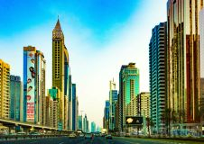 Dubai's Surreal Financial District Skyline on Sheikh Zayed Road