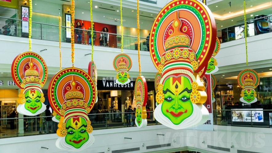 Kathakali Faces Hang Around at LuLu Mall, Ernakulam