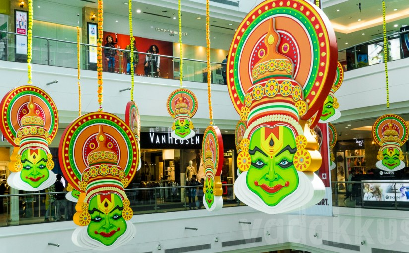 Kathakali Faces Hang Around at LuLu Mall, Ernakulam