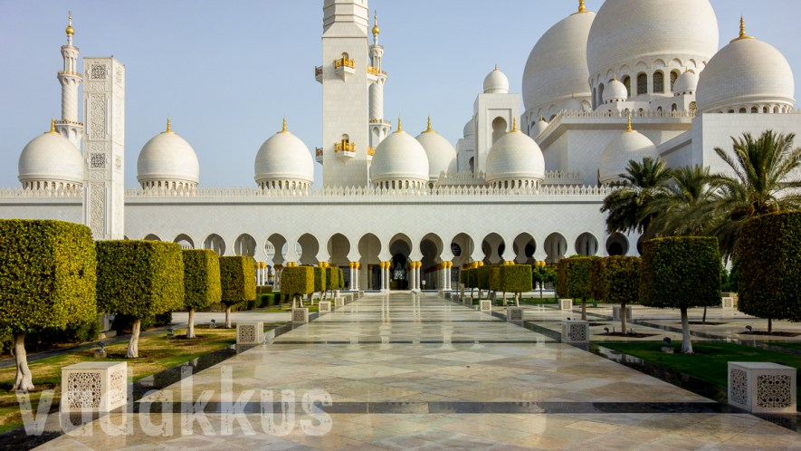 North Side View of the Sheikh Zayed Grand Mosque, Abu Dhabi